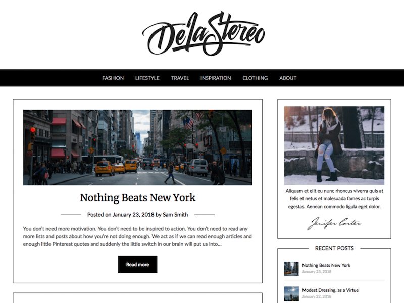 PersonalBlogily WordPress Theme