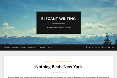 Elegant A WritingFree WordPress Theme