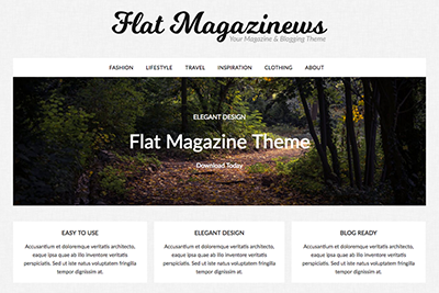 Flat Magazine A Free WordPress Theme