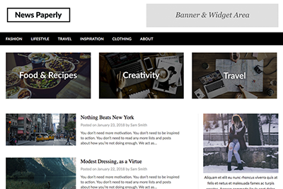 Newspaper A Free WordPress Theme