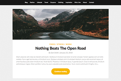 A Free WordPress Theme