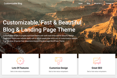 Customizable Blogily A Free WordPress Theme