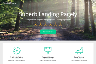 Landing Pagely A Free WordPress Theme