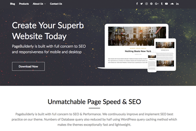 PageBuilderly A Free WordPress Theme