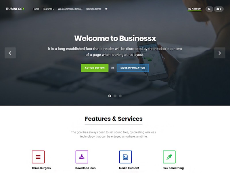 BusinessX WordPress Theme