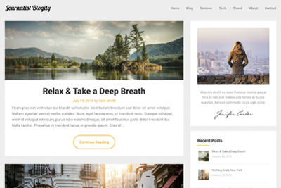 Journalist Blogily WordPress Theme