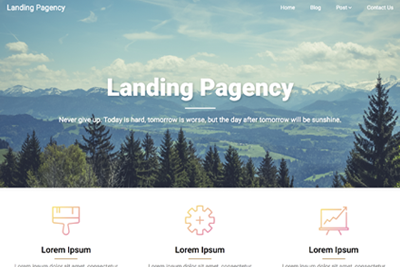 Landing Pagency A Free WordPress Theme