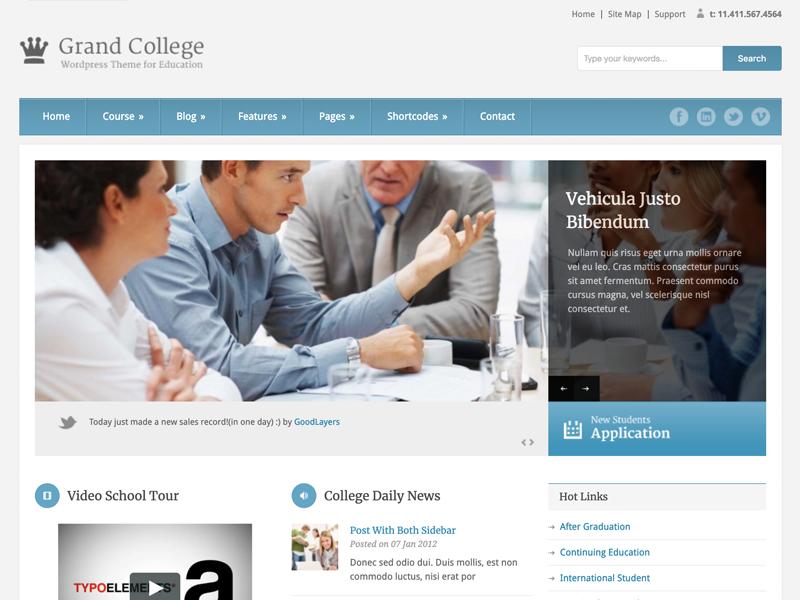 Grand College Educational WordPress Theme