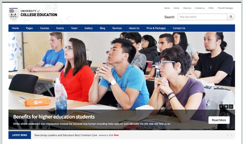 University Educational WordPress Theme