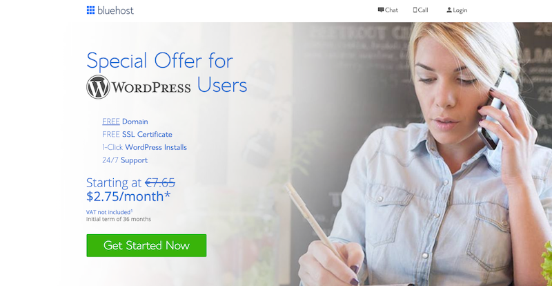 Bluehost Coupon Code - Get a 65% discount & a Free Domain